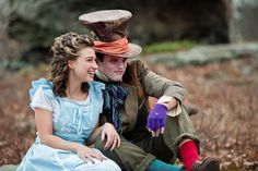 Alice in Wonderland Themed engagement photo shoot! (and other Disney shoots on this page too)