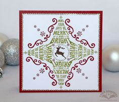 Happy Saturday! It's Karen Burniston here today with a stamped card front using the Merry & Bright clear stamps, plus a handy assist from a flourish die included in the Merry Christmas Pop Up die set. Recently I sawa couple of cards onPinterest featuring stamps combined to creategeometric designs.I made a mental note to try... Continue reading →