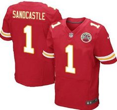 Nike Kansas City Chiefs Jersey #1 Leon Sandcastle Red Elite Jerseys