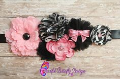 Couture Baby Girl Maternity Sash Newborn by MyButterflyBoutique, $25.00