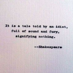 New to RogueryPress on Etsy: Shakespeare quote; about an idiot quote; Clever quotation; Insightful quote; Famous quotations (15.00 USD)