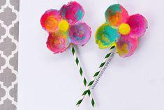 Egg Carton Flowers  - CountryLiving.com
