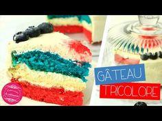 Gâteau tricolore bleu blanc rouge aux couleurs de la France ! Mi gâteaux moelleux, mi cheesecake, cette recette de supporter est un vrai délice.
