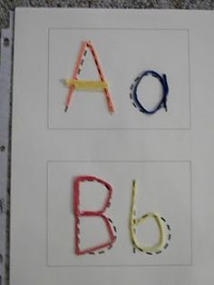 Alphabet tracing cards for wikki stix download.   or pipe cleaners, we've used pipe cleaners before. What a great fine motor activity.
