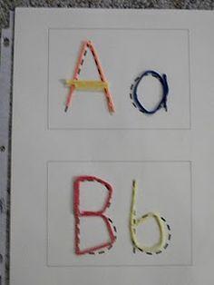Alphabet tracing cards for wikki stix download.