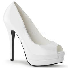 BELLA-12 White Pumps