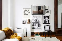 my scandinavian home: Tour a Beautiful Sitting Room in a Brooklyn Brownstone