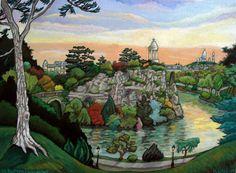 "Saatchi Art Artist Christophe Williart; Painting, ""Les Buttes Chaumont"" #art"