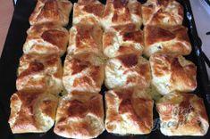 Babiččin recept - tvarohové kynuté šatičky | NejRecept.cz Snacks, Nutella, Pie, Breakfast, Square Blanket, Crochet Granny, Food Porn, Garden, Healthy Pie Recipes