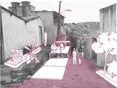 fotomontagem Architecture Student Portfolio, Architecture Board, Architecture Drawings, Landscape Architecture, Urban Intervention, Public Space Design, Urban Analysis, Draw On Photos, Photocollage