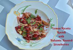 Lemon Ricotta Ravioli with Balsamic Roasted Strawberries