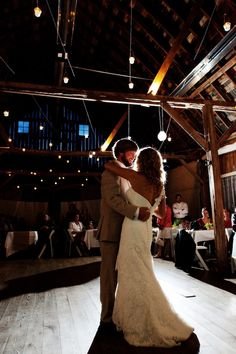 First dance...duh // Photo by Roee. #weddingphotographersmn #weddingphotography #barnwedding
