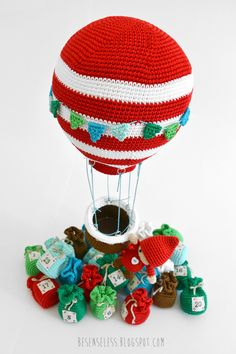 Amigurumi hot air balloon - Amigurumi winter wonderland - besenseless.blogspot.com