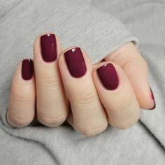 110 popular fall nail colors for you 2 ~ my.me 110 popular fall nail colors for you 2 ~ my. Gelish Nails, Red Nails, Hair And Nails, Cute Nails, Pretty Nails, Short Gel Nails, Gel Nail Art Designs, Dipped Nails, Fall Nail Colors