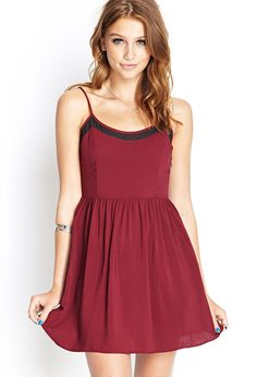 Mesh Insert Cami Dress #SummerForever - http://AmericasMall.com/categories/juniors-teens.html