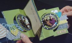 Thinlit Flip Card...You can keep attaching cards to each other to create this amazing pull out card