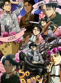 """Levi Ackerman Collage"" Posters by alanaalana 