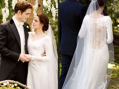 As much as I hate to admit it, Bella's dress with the sleeves and buttons with a long veil is just stunning.