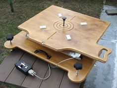 Dobsonian Telescope Motorized Equatorial Platform - Control box, motor hardware, and technical specs from T. Design and construction by Tai Chi John - Telescope Craft, Curiosity Rover, Electron Microscope, Tai Chi, Picnic Table, Specs, Design Art, Platform, Hardware