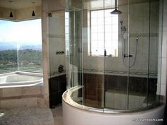 Walk-in Steam Bath/room.... but look at the view from the tub too!!