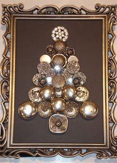Karen's Ideas Galore!: Button Christmas Tree