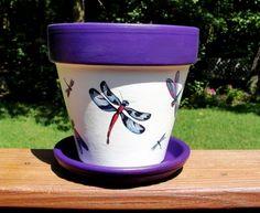 Hand Painted Flower Pots | Hand-painted flower pots from PaintedSeasons.com...