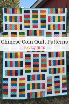 6 Chinese Coin Quilt Patterns If you love classic quilts, then you will adore this collection of Chinese coin quilt patterns! Scrap Quilt Patterns, Applique Quilts, Sewing Patterns, Quilting Projects, Quilting Designs, Quilting Ideas, Sewing Projects, I Spy Quilt, Striped Quilt