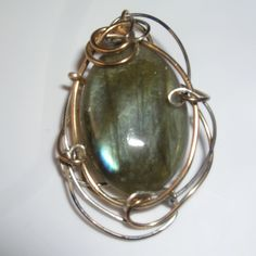 Labradorite with Goldfilled & Sterling Silver Wires