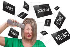 Fastidious media concept showing person annoyed by the multitude of information received via media channels. Fastidious Media is an exclusive image, you can buy it only from www.stockphotos.ezeepics.com. This image has a model release. Fastidious Media is a royalty-free commercial, exclusive photocomposition, available for instant download. When you buy an image at STOCKPHOTOS.EZEEPICS, you license it directly from the artist.