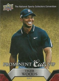 2015 UPPER DECK NATIONAL VIP PROMINENT CUTS VIP5 TIGER WOODS 50 CENT SHIP