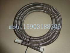Teflon -03 ST. By -03 ST. By 36 Nickel Plated Ends No Cover Hose Assembly 03 SS Braided PTFE