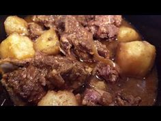 This easy pork neck bones and potatoes recipe is the perfect slow cooker recipe for a busy day! Hearty meat, tender potatoes, and creamy gravy. Food Recipes For Dinner, Food Recipes Homemade Healthy Recipes, Meat Recipes, Slow Cooker Recipes, Crockpot Recipes, Cooking Recipes, Cooking Videos, Sirloin Recipes, Cooking Tips, Healthy Food