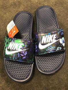 sale retailer 6f470 60207 Sport Sandals, Slide Sandals, Nike Slides, Nike Benassi, Blue Design, Baby