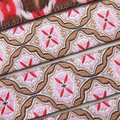 UK Seller Woven Jacquard Ribbon Vintage Style by MyCloudCuckoo, £1.05