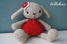 PATTERN - Miss Bunny - crochet pattern amigurumi pattern pdf (4.50 EUR) by lilleliis