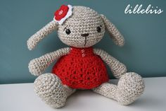 PATTERN  Miss Bunny crochet amigurumi by lilleliis on Etsy, $6.50