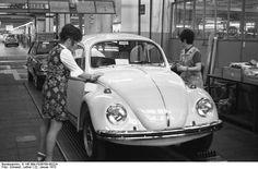 VW Beetle in factory