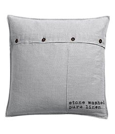 "French Vintage, Old Fashion Design French Text 100% Linen Throw Pillow Cover Cushion Cover Gray 20 x 20"" Metal Buttons Grey (Grey) Cushion Cover http://www.amazon.com/dp/B00TOYAQHU/ref=cm_sw_r_pi_dp_uzY-ub1BSH2YT"
