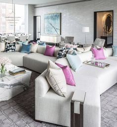Pastel Living Room by Jamie Drake