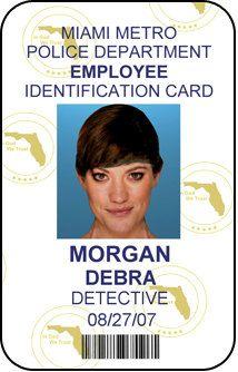 Debra Morgan Employee ID Badge Lieutenant Miami by UncleJacks ...