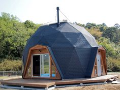 Tiny House Cabin, Tiny House Design, Yurt Home, Bubble Tent, Geodesic Dome Homes, Dome House, Earth Homes, House Plans, New Homes