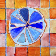 Citrus fruits in complementary colors Color Art Lessons, Fruit Art Kids, 4th Grade Art, Second Grade, School Art Projects, Diy Projects, Orange Art, Principles Of Art, Complimentary Colors
