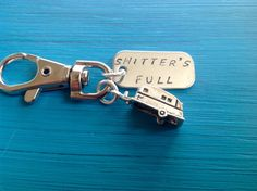 Shitters Full Keychain RV Camper keyring Trailer by tagsoup $14
