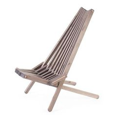 Nordeck Folding Pine Chair Grey Pine is a beautiful wood. Don't let the fact that it's less expensive than some of the other wood types put you off. Pine is a very popula Wooden Garden Chairs, Garden Furniture, Outdoor Furniture, Furniture Chairs, Diy Furniture, Pine Chairs, Deck Chairs, Outdoor Lounge, Outdoor Chairs