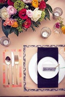Washi Tape Place Settings (BridesMagazine.co.uk)