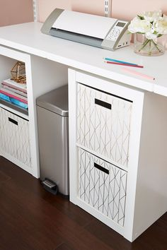 Clean up your workspace with new 2-Cube Storage Organizers from Better Homes & Gardens at Walmart. #office #homeoffice #organization #storage #cubeorganizer #officestorage #homeofficeideas Storage Organizers, Cube Organizer, Office Storage, Cube Storage, Storage Bins, Only At Walmart, White Laminate, Affordable Furniture, Particle Board