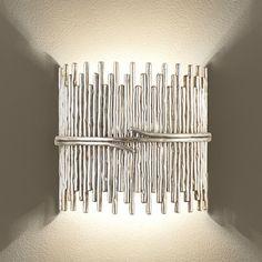 Chelsom Silver Sculpture Wall Light
