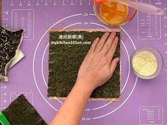 Crispy Seaweed Cracker (Nori Cracker)   MyKitchen101en.com Spring Roll Pastry, Crispy Seaweed, Spring Rolls, 2 Ingredients, Crackers, Sushi, Roast, Snacks, Pretzels