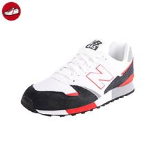 624v4, Chaussures Multisport Outdoor Homme, Multicolore (White/Navy), 45.5 EUNew Balance
