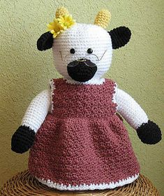 Granny Cow Amigurumi ~ Free Download Pattern